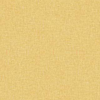 Arthouse 676009 Linen Texture Wall Paper/Coverings, Yellow, One Size