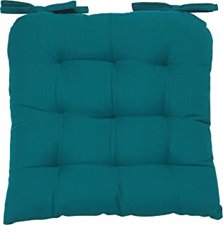 Now Designs Renew Collection Padded Chair Cushion, Peacock Green