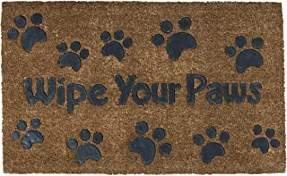 PRINZ Prints 30x18 Wipe Your Paws Coir and Latex Mat