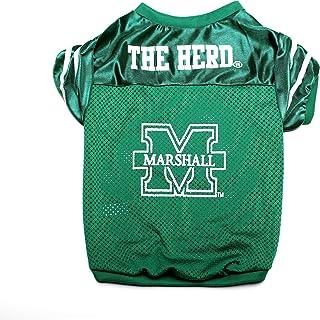 قميص رياضي للحيوانات الأليفة يحمل شعار فريق مارشال ثندر هيرد الجامعي من بت جودز Small PSMJER-063