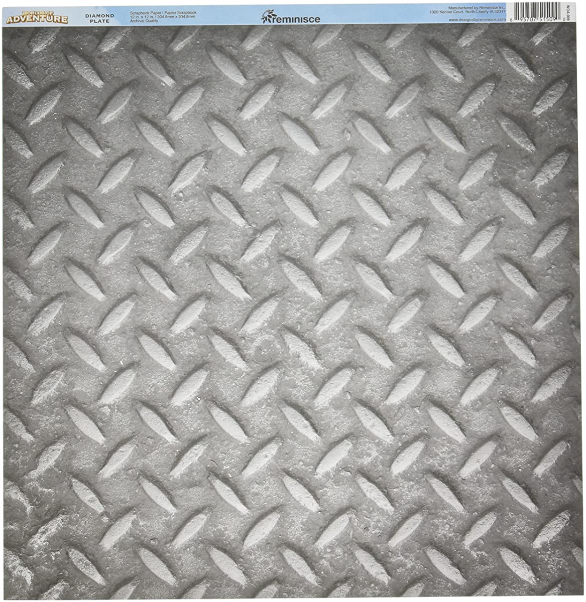 Reminisce WOA-009 25 Sheet Diamond Plate Worlds of Adventure Double-Sided Cardstock, 12