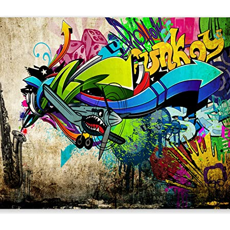 Details about  /3D Colorful Graffiti I2438 Wallpaper Mural Sefl-adhesive Removable Sticker Wendy