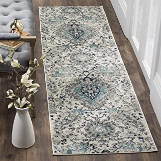 Safavieh Madison Collection MAD600C Cream and Light Grey Bohemian Chic Paisley Runner (2'3