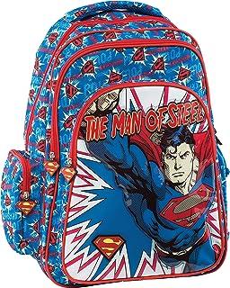 Superman Mochila Escolar, 44 cm, Azul (Blue)