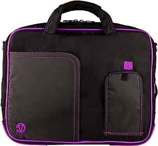 Purple VG Pindar Edition Durable Messenger Shoulder Bag Case for HP 15.6 inch Laptop Models HP 650 / HP 635 / HP 630 / 6570b / 4545s / 4540s / 6565b / 6560b / 4530s / 4535s / 8570p / 8560p / 8560w / 8570w / HP 655 / dv6-7020 us / dv6-7010 us / HP 2000-2a20nr / HP 2000-2a10nr / ENVY 6-1010us / Envy 4-1010us / g6-2010nr / g6-1d80nr / HP Compaq Presario cq58-a10nr + SumacLife TM Wisdom Courage Wristband