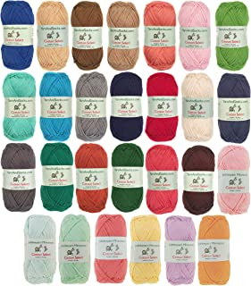Cotton Select 100% Cotton Yarn 4 Skein Assorted Color Surprise Package