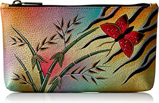 Anuschka Women's Handpaint LR Cosmetic Case-1702-Pkb Coin Purse