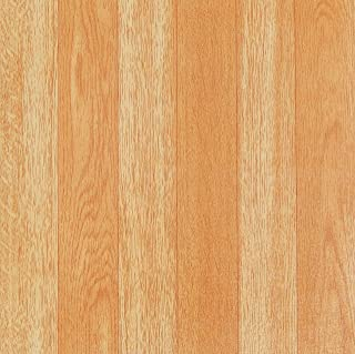 Box of 20 Self-Stick Vinyl Floor Tiles (English Wood Strips)