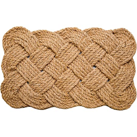Iron Gate - Natural Jute Rope Woven Doormat 18x30 - Single Pack - 100% All Natural Fibers - Eco-Friendly - Classic Interwoven Rope Design