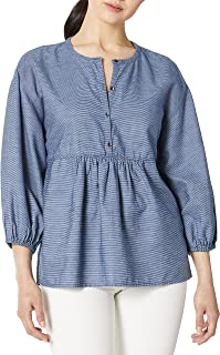 Lucky Brand womens STRIPE POPOVER TOP Shirt