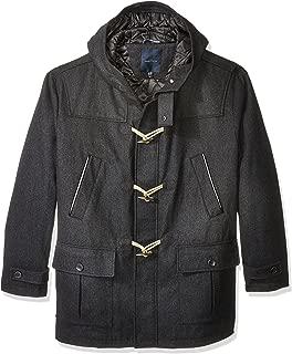 Men's Big and Tall Wool Toggle Coat