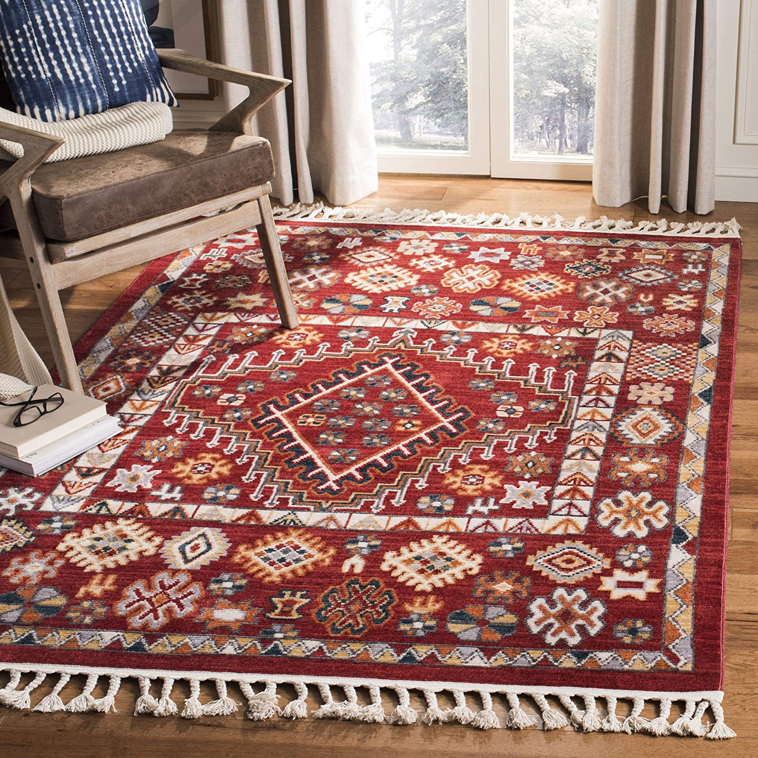 Safavieh Farmhouse Collection New York Mall FMH814Q Boho Challenge the lowest price of Japan Moroccan Tassel Area