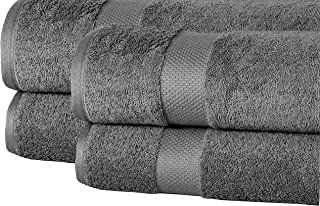 Super Absorbent Towel Grey towels 100 Cotton Oversized Extra Large Bath Towels, Set of 4 Towel Set, Charcoal