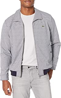Lacoste Mens Long Sleeve Check Print Tattersall Jacket