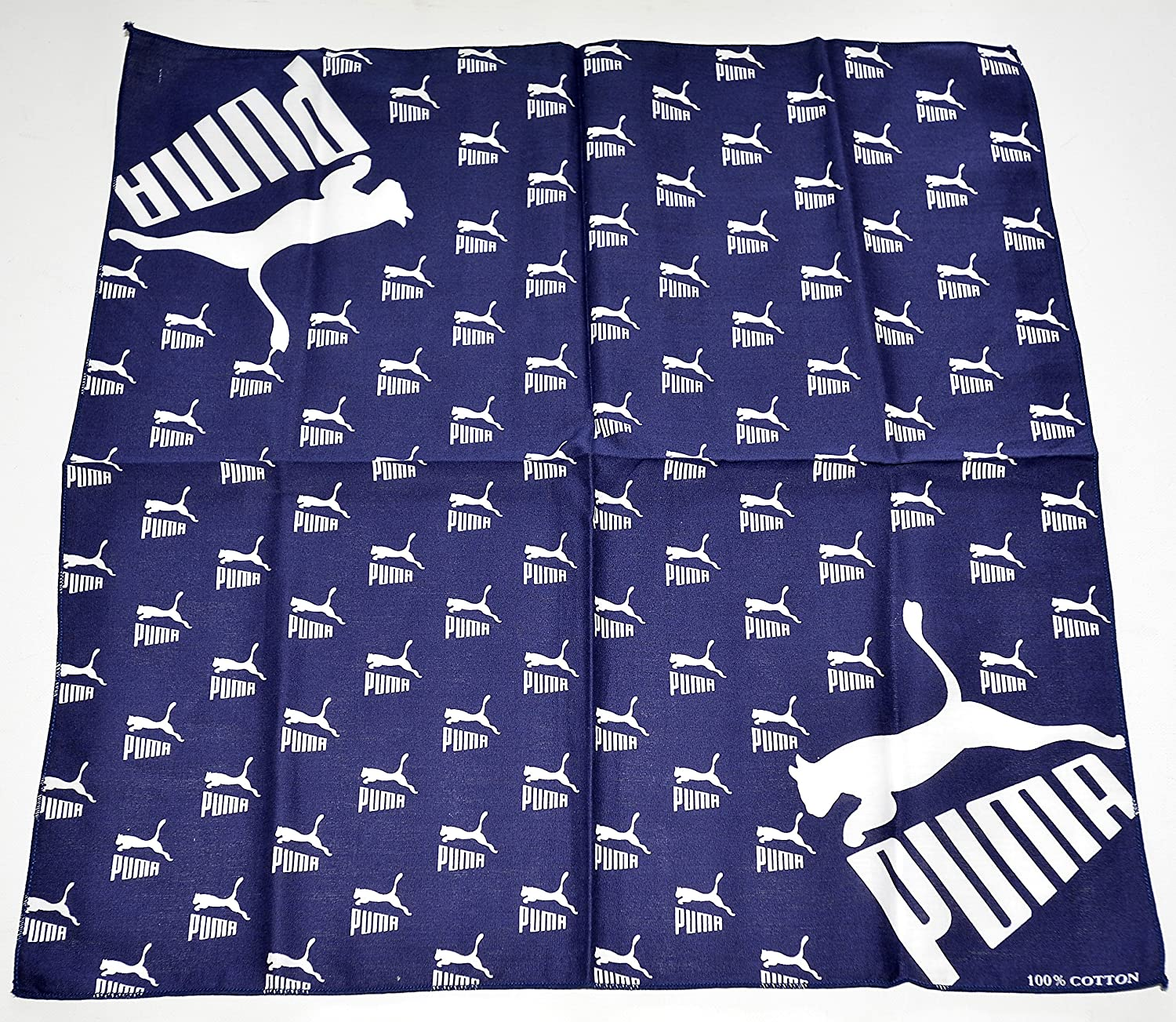 100% cotton PUMA bandana , dark navy and white (sold exclusively ...