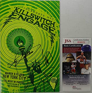 Signed Killswitch Engage Autographed Tour Program 195/200 Certified Jsa # Ii10152