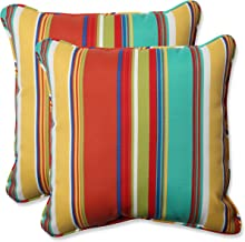 Pillow Perfect Outdoor Westport Spring 18.5-Inch Throw Pillow, Multicolored, Set of 2