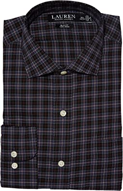 LAUREN Ralph Lauren - Non-Iron Stretch Poplin Slim Fit Spread Collar Dress Shirt