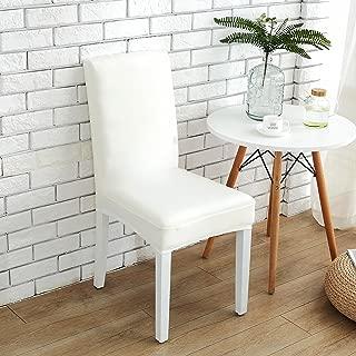 Argstar 2 Pack Chair Slip Cover White Slipcover for Living Room Wedding Removable