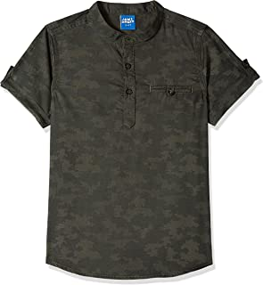 Amazon Brand - Jam & Honey Boy's Regular Shirt