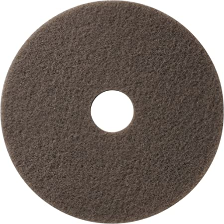 15 Pack 6.5 Americo Manufacturing 403750 Beige Carpet Encapsulation Cleaning Floor Pad with No Center Hole