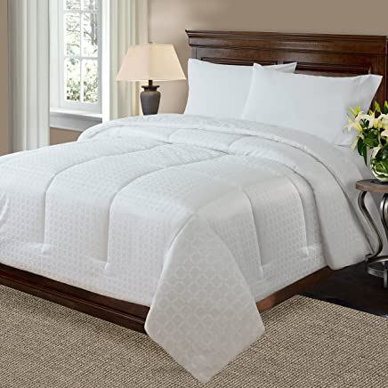 Crowning Touch 500 Thread Count Cotton Comforter,  Queen,  White
