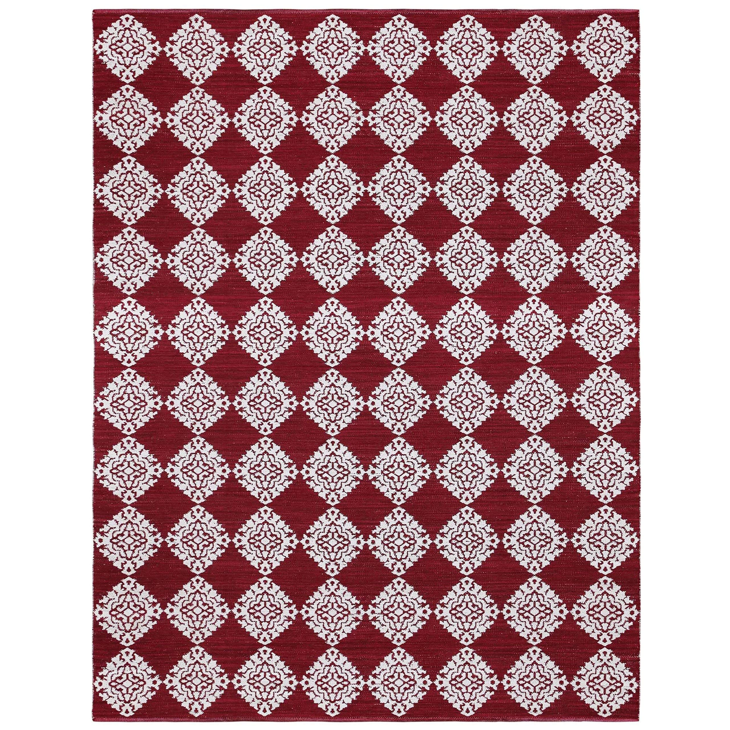 Best Buy Jacquard CJ9002 Medallion Cotton Rug 9 x 12 Red Reviews