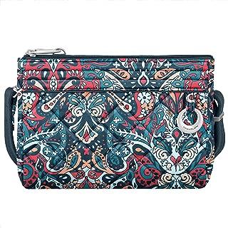 Travelon Women's Anti-Theft Boho Clutch Crossbody Cross Body Bag, Summer Paisley, One Size