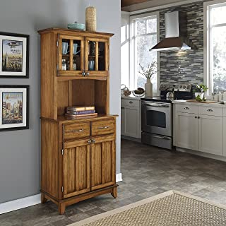 solid wood microwave hutch
