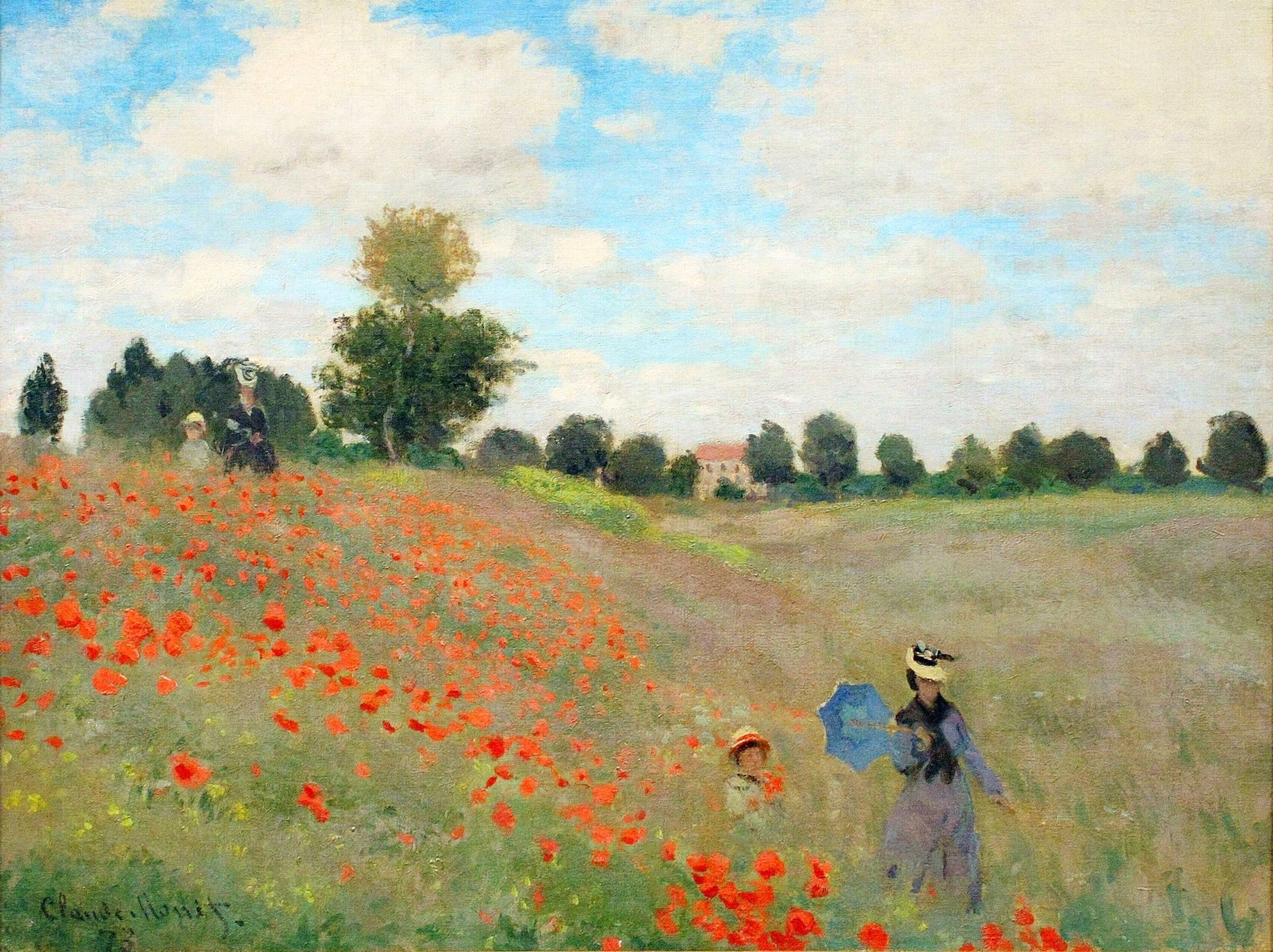 """claude monet canvas art print picture 12""""x16"""" framed and ready to hang:  Amazon.co.uk: Kitchen & Home"""