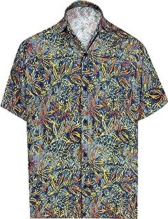 HAPPY BAY Men's Beach Hawaiian Shirt Short Sleeve Front Pocket Shirt 3D Printed