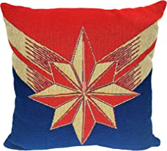 Marvel Captain Marvel, Protector of Skies Woven Jacquard Pillow, 20 x 20, Multi Color