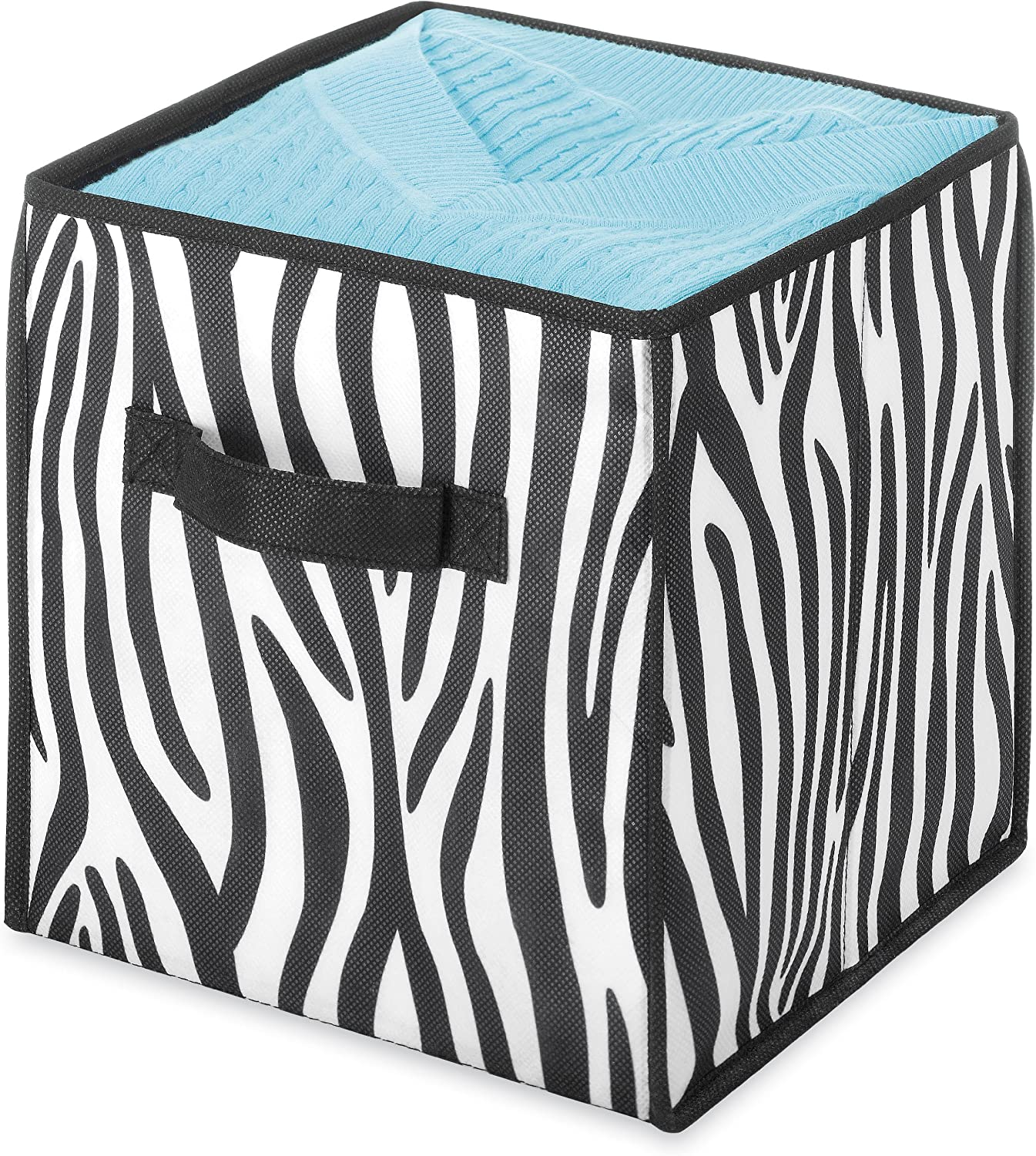 Whitmor Collapsible Cube Ranking TOP19 Limited Special Price Zebra 10-Inch