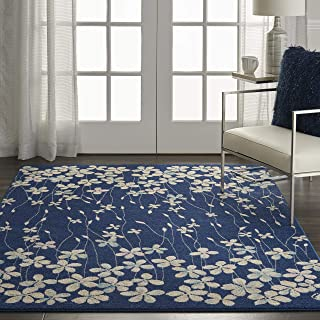 Nourison TRA04 Tranquil Bohemian Floral Navy Area Rug 6' X 9'