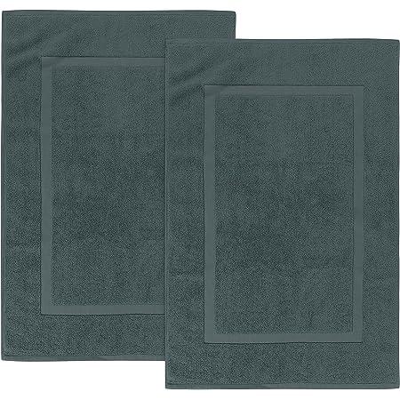 Utopia Towels - 2 Alfombrillas de baño, Alfombra baño - 100% algodón Lavable en la Lavadora (53 x 86 cm, Gris) - Altamente Absorbente