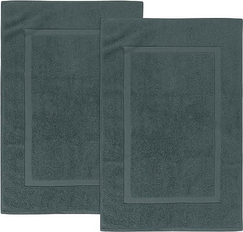 Utopia Towels - 2 alfombras de baño de algodón, (53 x 86 cm), 100% algodón Hilado en Anillos - Toalla de baño para Du...