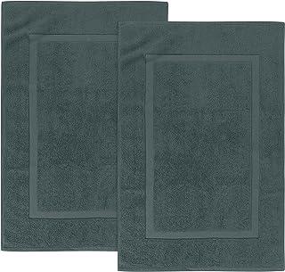 Utopia Towels - Lot de 2 Tapis de Bain en 100% Coton - Tapis Salle Bain - Lavable en Machine (53 x 86 cm, Gris)