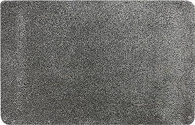 MUD STOPPER, Shower, Super Soft Feel, Machine Washable, Non-Slip Door Mat for Home/Office-100 Granite, Polyester, 40x60 cm
