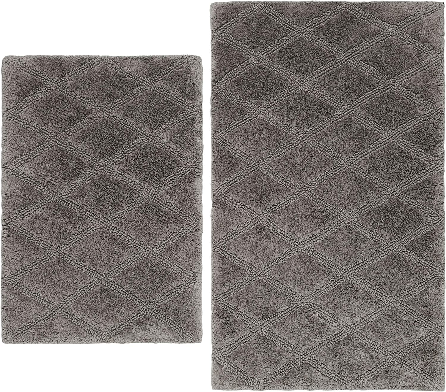 Vera Wang Tufted Discount mail order Diamond Collection Soft Absorbent OFFicial shop Plus and