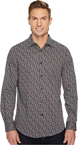 Perry Ellis - Long Sleeve Printed Leaf Shirt
