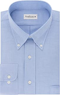 Van Heusen Men's Dress Shirt Regular Fit Oxford Solid Buttondown Collar