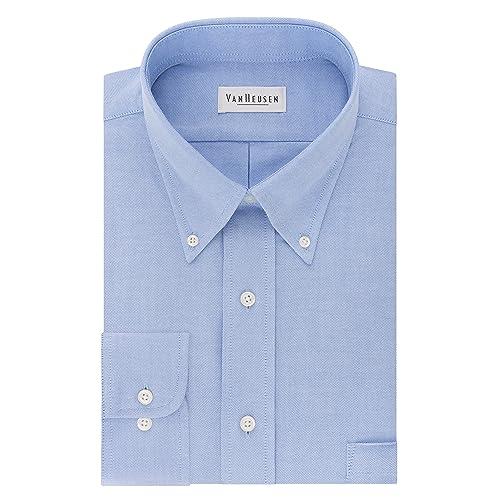 Oxford Shirt Business-Regular Collar Work Office Smart Formal Blue or White