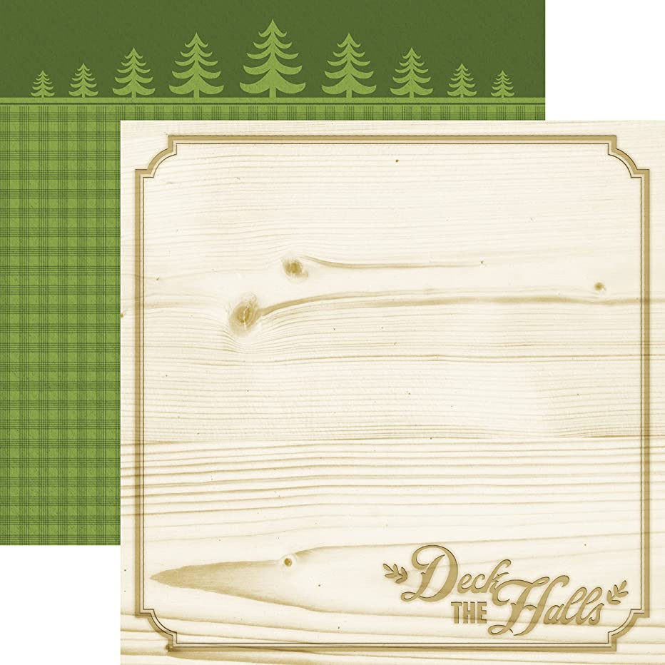 Paper House Productions P-2042E Double Sided Deck The Halls Paper (15 Pack), 12