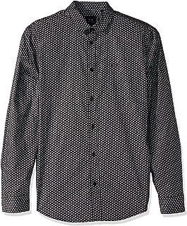 A|X Armani Exchange Men's Patterned Long-Sleeve Cotton Button Down