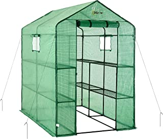 oGrow OG4979-2T8 Large Heavy Duty Walk-IN 2 Tier 8 Shelf Portable Lawn and Garden Greenhouse