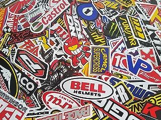 100 Pcs Random Car Racing Stickers Vintage Decal Rare Original Motocross Motorcycle