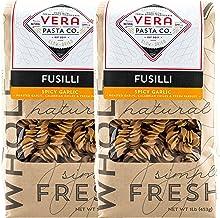 Vera Pasta Spicy Garlic Fusilli - Gourmet Italian Pasta for Authentic Taste & Texture - Artisan, Fresh Pasta Made in the U...