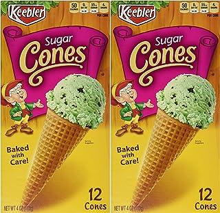 Keebler 12-Count SUGAR CONES 4oz (2 Pack)
