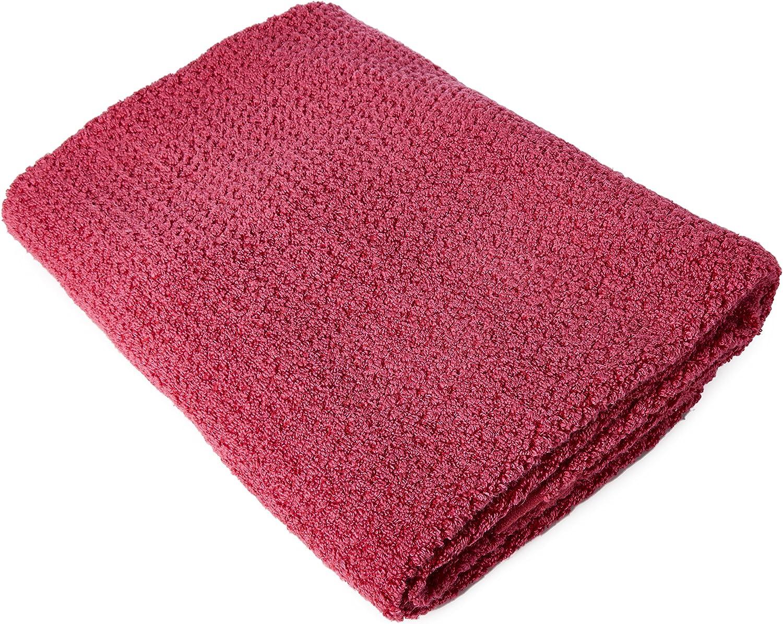 Everplush Diamond Jacquard Bath Towel, Set of 2, Magenta