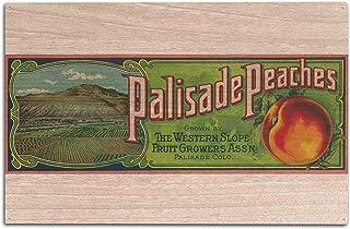 Lantern Press Palisade, Colorado - Palisade Peach - Vintage Label (10x15 Wood Wall Sign, Wall Decor Ready to Hang)